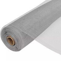 vidaXL Síť proti hmyzu hliník 100 x 1 000 cm stříbrná