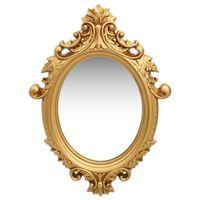 vidaXL Nástěnné zrcadlo zámecký styl 56 x 76 cm zlaté