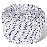 vidaXL Splétané lodní lano z polyesteru 10 mm 250 m bílé