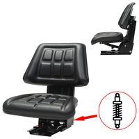 vidaXL Traktorová sedačka s odpružením, černá