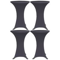 vidaXL Strečové návleky na stůl 4 ks 80 cm antracitové