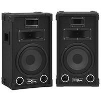vidaXL Profesionální pasivní hi-fi reproduktory 2 ks 800 W černé