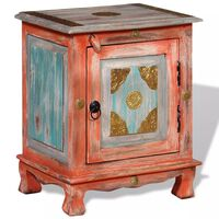 vidaXL Noční stolek, masivní mangovníkové dřevo, oranžový