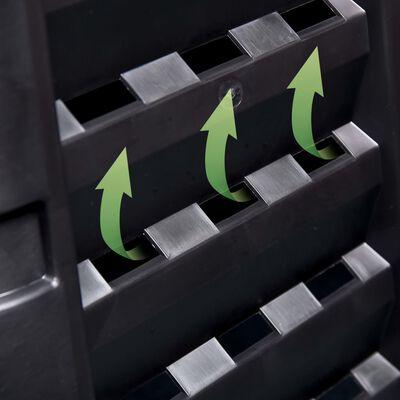 vidaXL Zahradní kompostér černý 93,3 x 93,3 x 80 cm 480 l