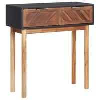 vidaXL Konzolový stolek 70 x 30 x 75 cm masivní akáciové dřevo a MDF