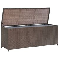 vidaXL Zahradní úložný box hnědý 120 x 50 x 60 cm polyratan