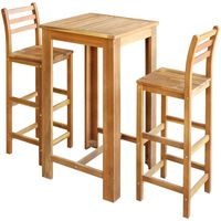 vidaXL Barový stůl a židle masivní akáciové dřevo sada 3 kusy