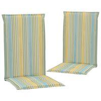 vidaXL Podušky na zahradní židle s potiskem 2ks vícebarevné 120x50x3cm