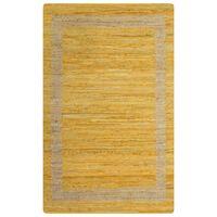 vidaXL Ručně vyráběný koberec juta žlutý 160 x 230 cm
