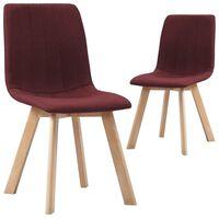 vidaXL Jídelní židle 2 ks vínové textil
