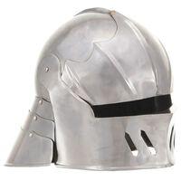 vidaXL Středověká rytířská přilba pro LARPy replika stříbro ocel