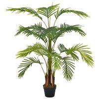 vidaXL Umělá rostlina palma s květináčem zelená 120 cm
