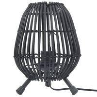 vidaXL Stolní lampa vrba černá 60 W 20 x 27 cm E27