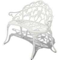 vidaXL Zahradní lavice 100 cm litý hliník bílá