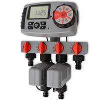 42352 vidaXL Automatický zavlažovací časovač se 4 stanicemi 3 V