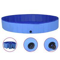vidaXL Skládací bazén pro psy modrý 200 x 30 cm PVC