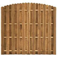 vidaXL Protipohledový plotový dílec borovice 180 x (155–170) cm