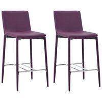 vidaXL Barové stoličky 2 ks fialové umělá kůže