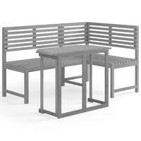 3057865 vidaXL 2 Piece Bistro Set Solid Acacia Wood Grey (312423+46326)