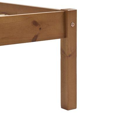 vidaXL Rám postele 2 zásuvky medově hnědý masivní borovice 90 x 200 cm