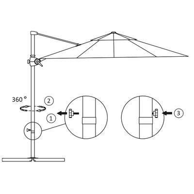 vidaXL Konzolový slunečník s ocelovou tyčí 250 x 250 cm antracitový