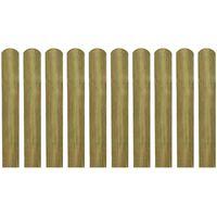 vidaXL 30 ks impregnované plotovky dřevo 60 cm