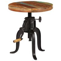 vidaXL Odkládací stolek 45 x (45–62) cm recyklované dřevo a litina