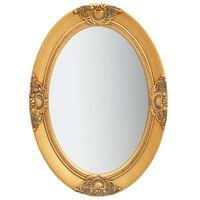 vidaXL Nástěnné zrcadlo barokní styl 50 x 70 cm zlaté