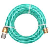 vidaXL Sací hadice s mosaznými konektory 7 m 25 mm zelená