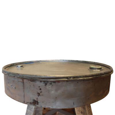vidaXL Konferenční stolek masivní recyklované dřevo, stříbrný, 60x45cm
