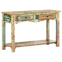vidaXL Konzolový stolek 120 x 40 x 75 cm masivní recyklované dřevo