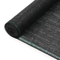vidaXL Tenisová zástěna černá 1 x 25 m HDPE