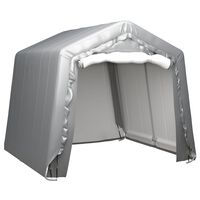 vidaXL Úložný stan 240 x 240 cm ocelově šedý