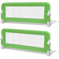 vidaXL Dětské zábrany k postýlce 2 ks zelené 102 x 42 cm