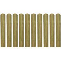 vidaXL 20 ks impregnované plotovky dřevo 60 cm