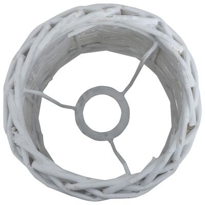 vidaXL Stínidlo na lampu proutěné 25 x 17 cm bílé