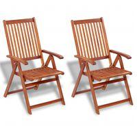 vidaXL Skládací zahradní židle 2 ks masivní akácie hnědé