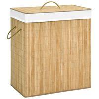 vidaXL Bambusový koš na prádlo 100 l