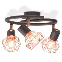 vidaXL Stropní světlo se 3 LED žárovkami se žhavicím vláknem, 24 W