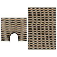 vidaXL Koupelnová předložka z juty 160 x 230 cm přírodní a černá