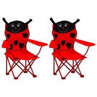 vidaXL Dětské zahradní židle 2 ks červené textil