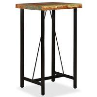 vidaXL Barový stůl masivní recyklované dřevo 60 x 60 x 107 cm