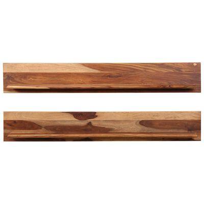 vidaXL Nástěnné police 2 ks 169 x 26 x 20 cm masivní sheeshamové dřevo