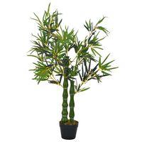 vidaXL Umělá rostlina bambus s květináčem zelená 110 cm