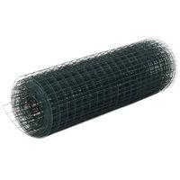 vidaXL Pletivo ke kurníku ocel PVC vrstva 10 x 0,5 m zelené