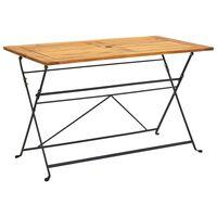 vidaXL Skládací zahradní stůl 120 x 70 x 74 cm masivní akáciové dřevo