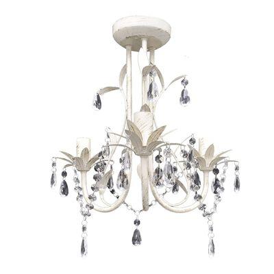 vidaXL Křišťálové lustry 2 ks elegantní bílé