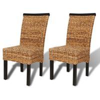vidaXL Jídelní židle 2 ks abaka a masivní mangovníkové dřevo