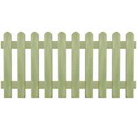 vidaXL Laťkový plot impregnovaná borovice 170 x 80 cm 6/9 cm