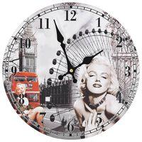 vidaXL Vintage nástěnné hodiny 30 cm Marilyn Monroe